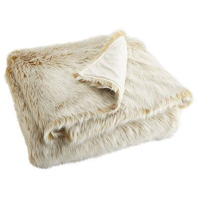 Oversized Ombre Faux Fur Throw Gold Faux Fur Bedding