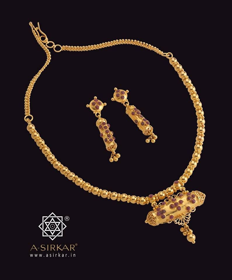 Dholbiri Necklace : Of Assamese origin and taking its name