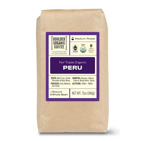 The Amazon region of northeastern Peru produces some of the best tasting coffees in the world. Known for the subtle fruit and chocolate ntoes and the floral aromas, this Fair Trade & Organic, Boulder Organic Peruvian coffee possesses it all. This coffee contains both fully-washed and sun-dried beans grown at 1250m - 1800m in altitude that's harvested May through September. Not only does this coffee taste amazing, but it does amazing things, with a portion of every purchase going towards building