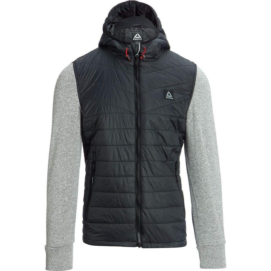 Reebok Men S Sweater Fleece Active Jacket Active Jacket Men Sweater Jackets [ 1088 x 1088 Pixel ]