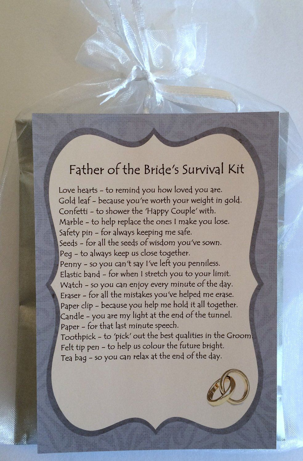 Father of the bride survival kit gift amazoncouk