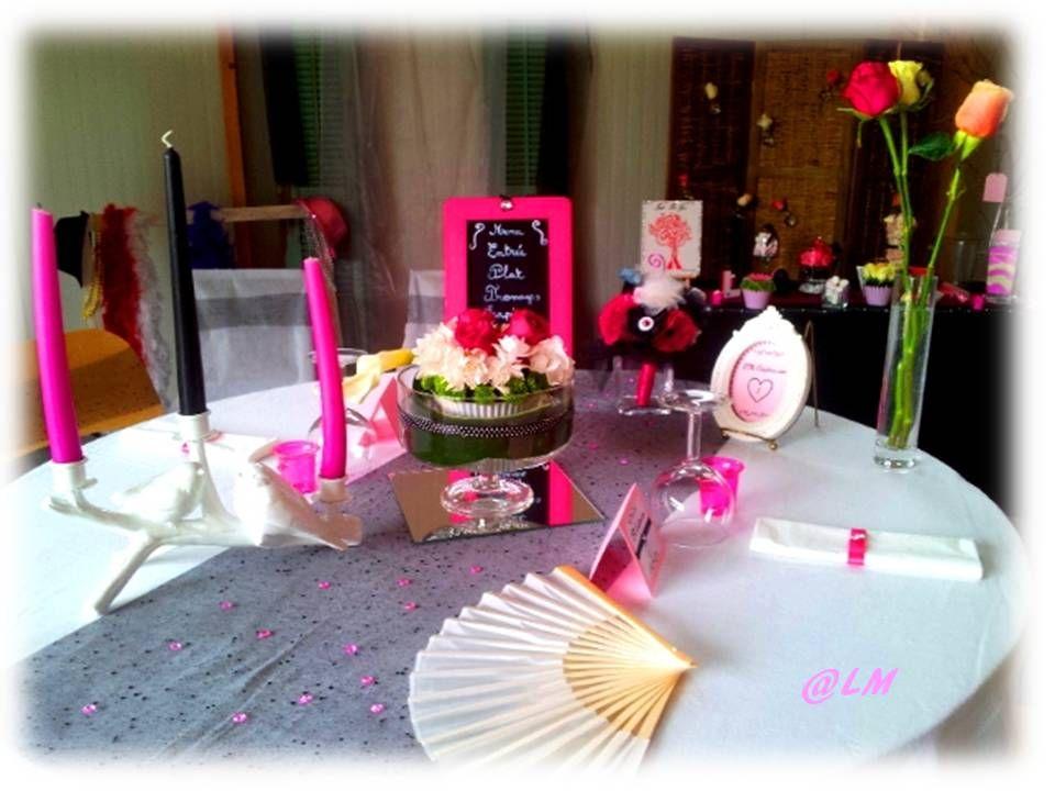 Présentation Déco de table diner en Amoureux LM Création ...