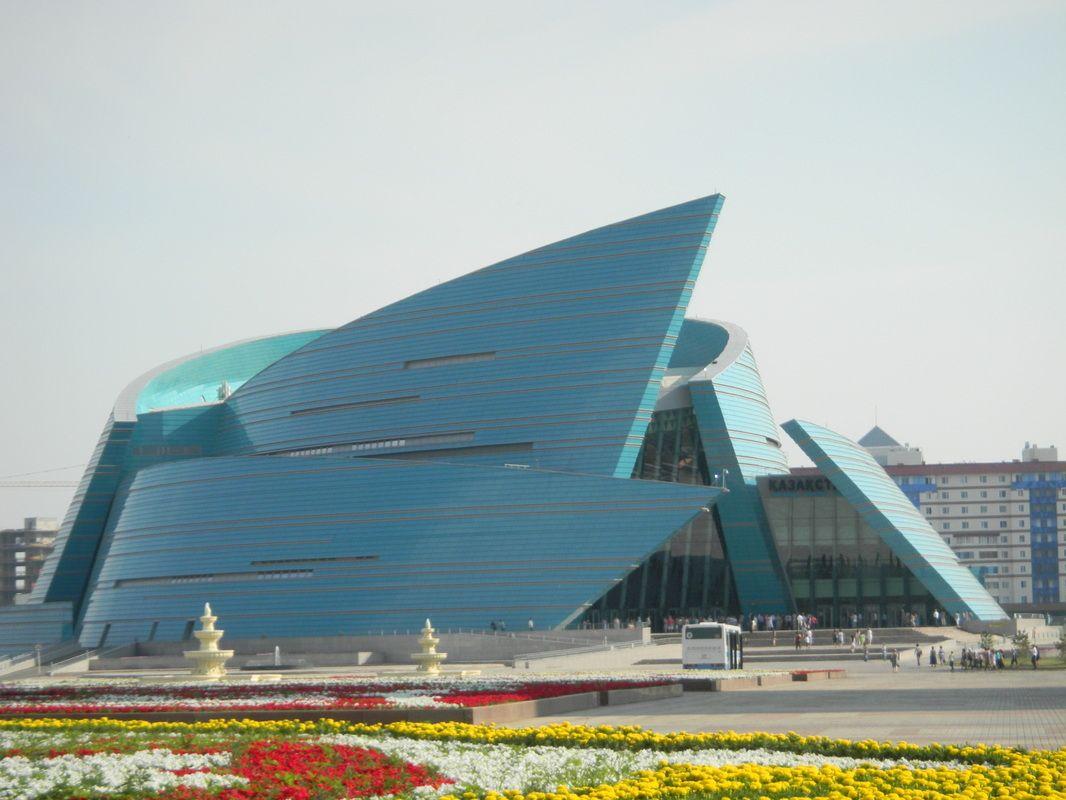 Concert Hall (2009) in Astana, Kazakhstan, Central Asia. Designed by Italian architect Manfredi Nicoletti