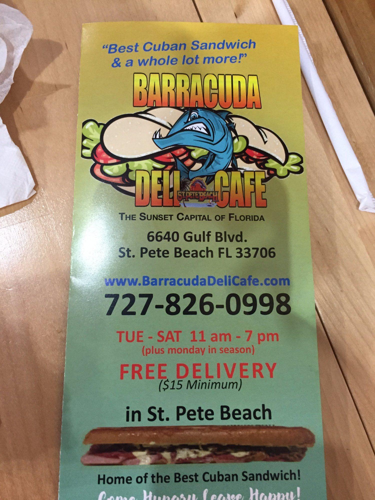 Barracuda deli cafe st pete beach see 103 unbiased