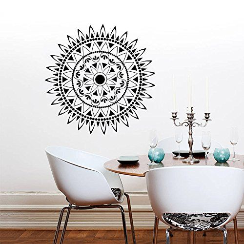 Wall decals mandala ornament indian geometric moroccan pattern yoga namaste flower om bedroom vinyl sticker wall