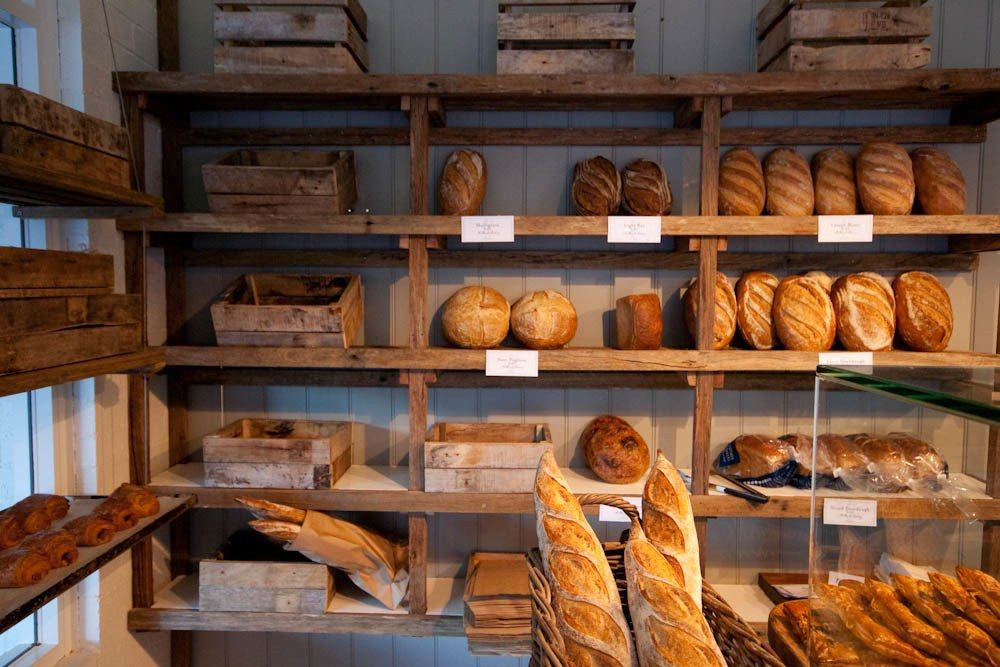 bread display at milkwood bakery | berry sourdough cafe in berry, australia