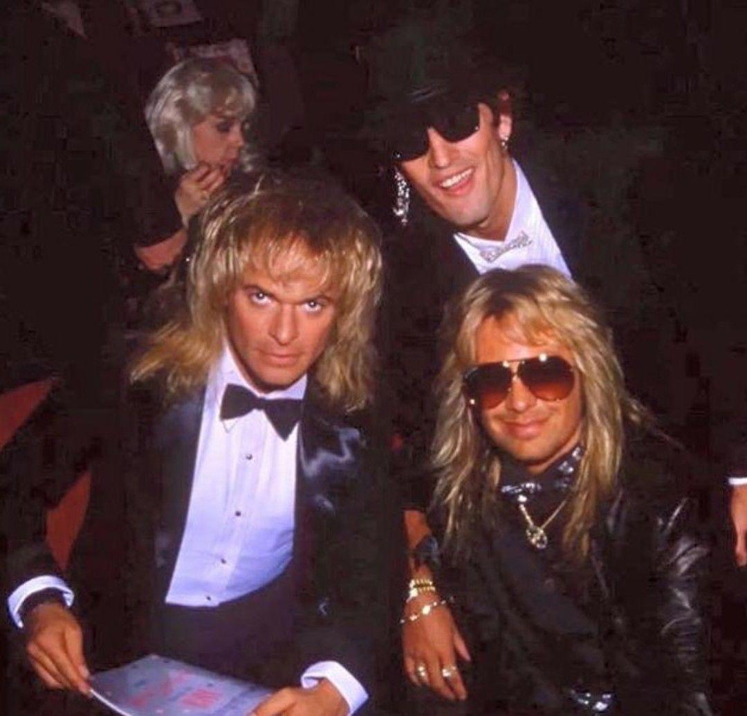 1988 Ama S With David Lee Roth Glam Metal Van Halen