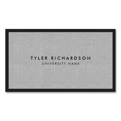 Professional Graduate Student Business Card Zazzle Com Student Business Cards Linen Business Cards Examples Of Business Cards