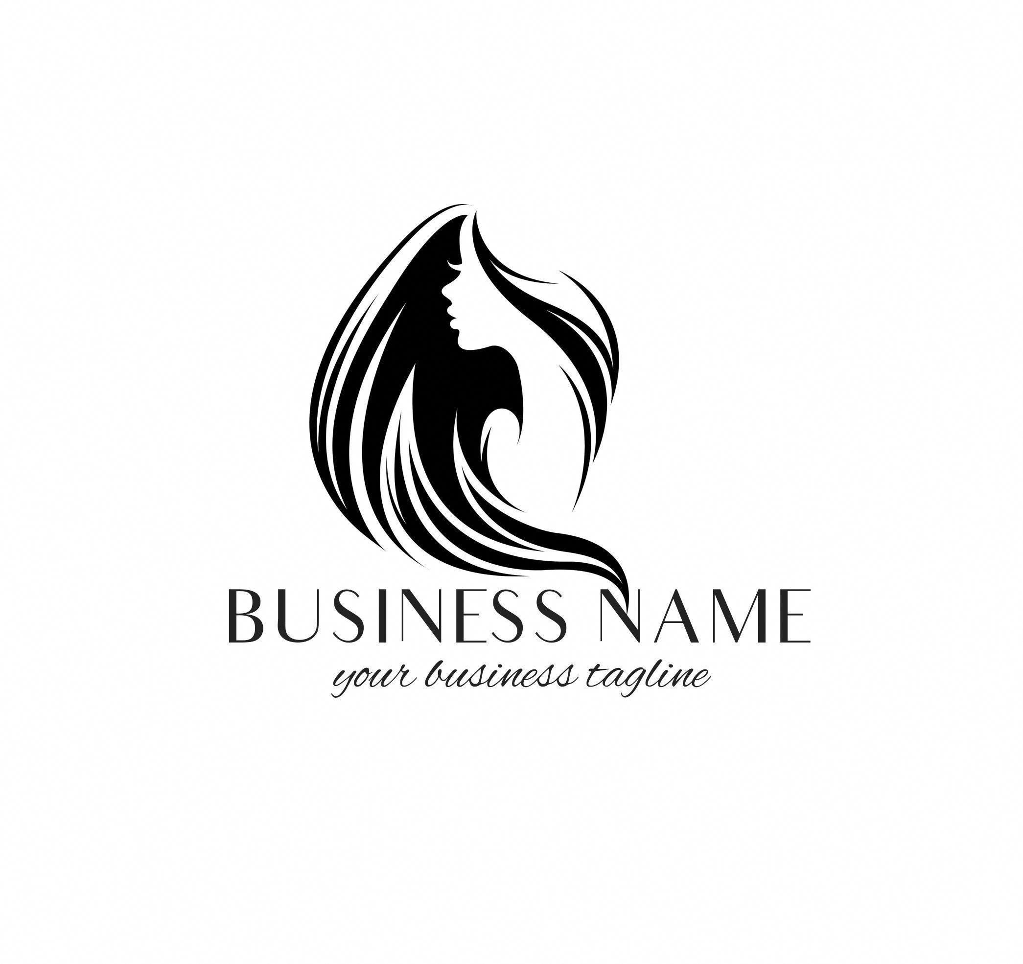 Hair Salon Logo, Hairstylist Logo, Hair Extensions Logo