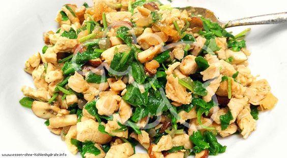 Leckere Rucola-Putenpfanne - Essen ohne Kohlenhydrate