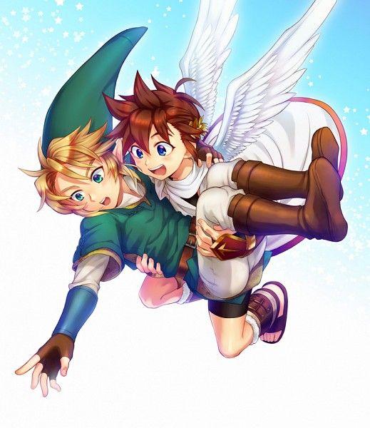 Pit (Kid Icarus) Link (Legend of Zelda) - Super Smash Bros
