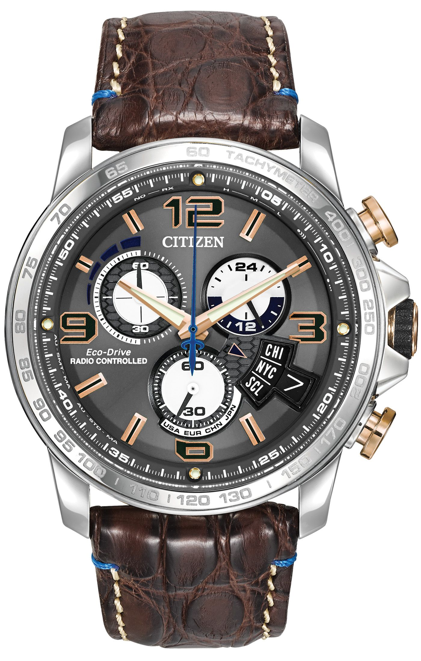 261031349d3 Citizen Citizen Eco-Drive Chrono-Time A-T Limited Edition BY0100-01H Atomic  Timekeeping