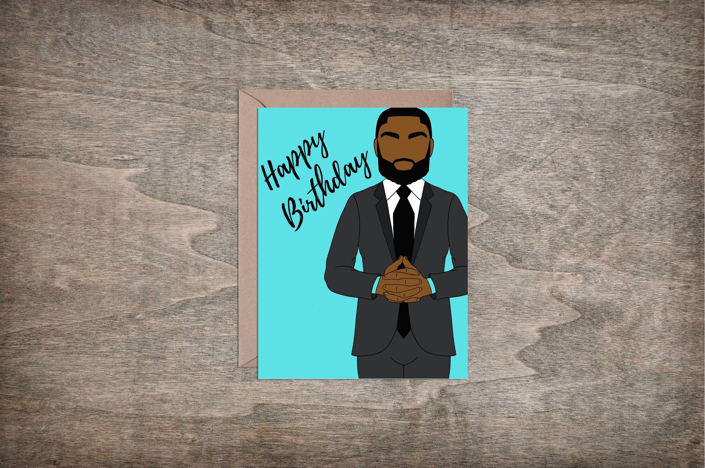 Happy Birthday Male / Black Man / African American