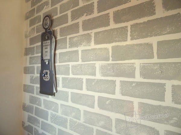 Pared ladrillos decoraci n pinterest pared ladrillo for Como pintar murales en paredes exteriores