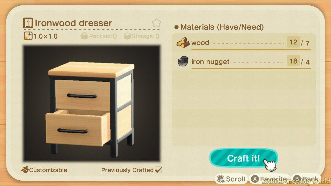 收藏到 森友會 on Ironwood Furniture Animal Crossing  id=76435