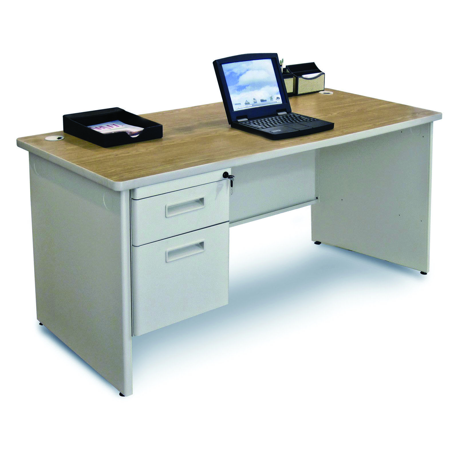 Top Large Desk Pad Ikea For Your Cozy Home Pedestal Desk Oak Laminate Office Desk Set