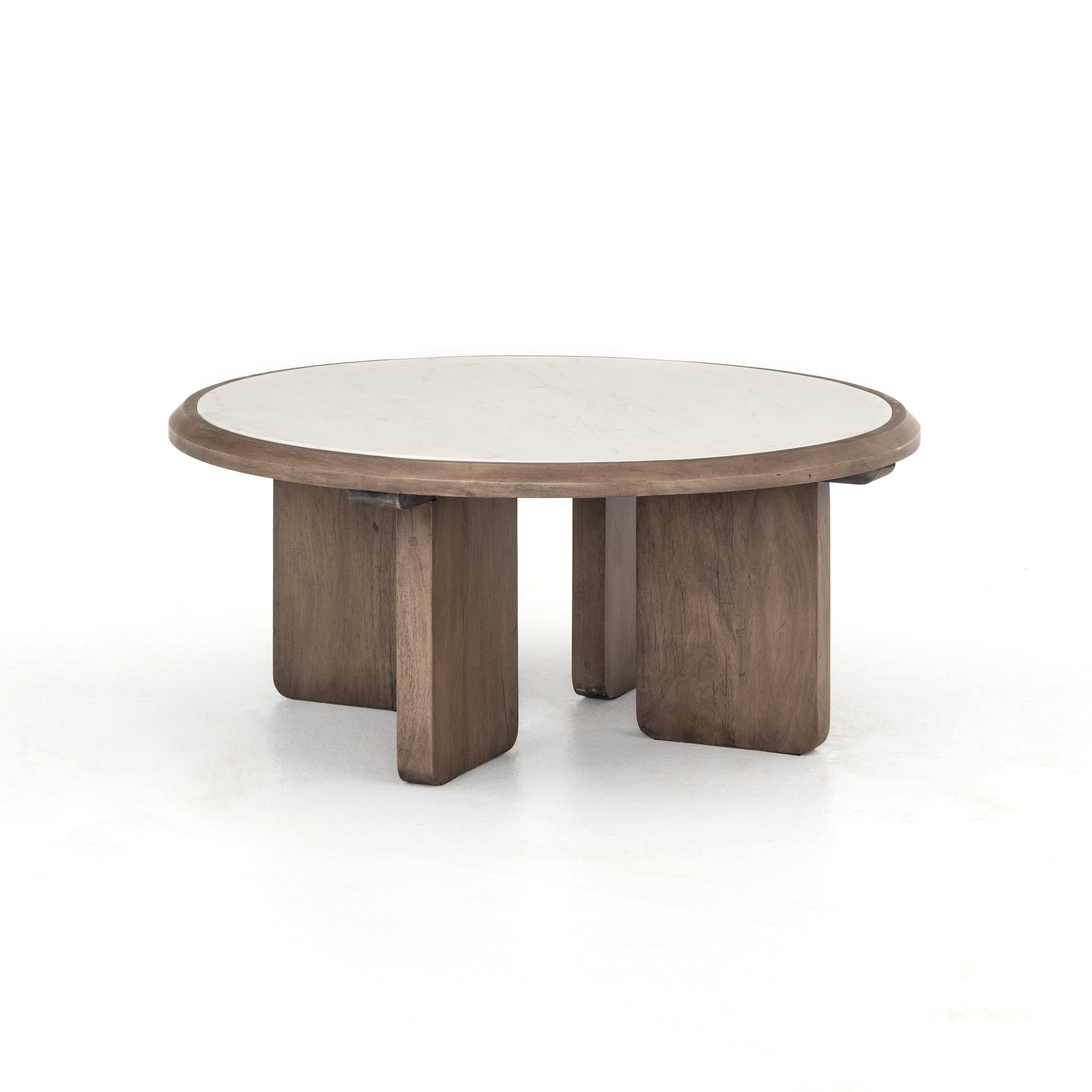 Britton 39 In 2021 Coffee Table Marble Top Coffee Table Round Coffee Table [ 3118 x 3118 Pixel ]