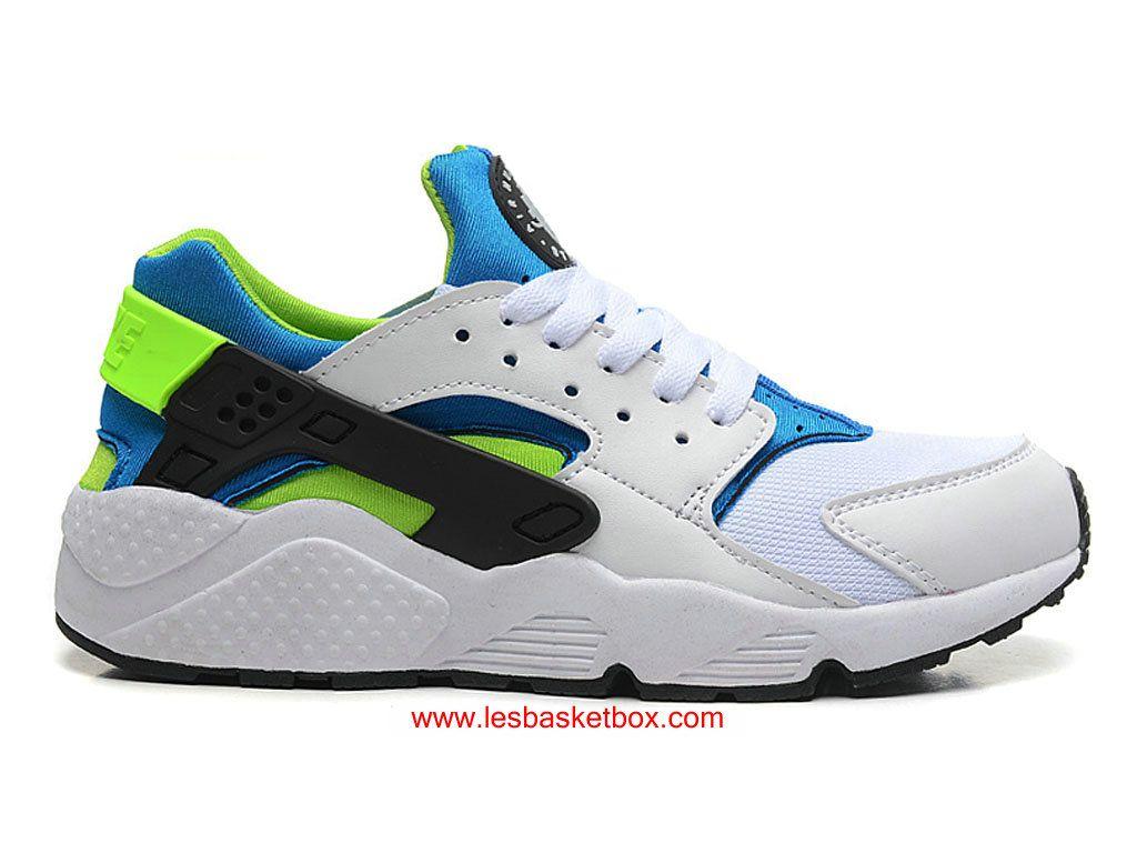 pretty nice ec79d 7003e Acheter Le Nouveau Modele Chaussures Nike Air Huarache Pour Femme  BlancNoir Vert