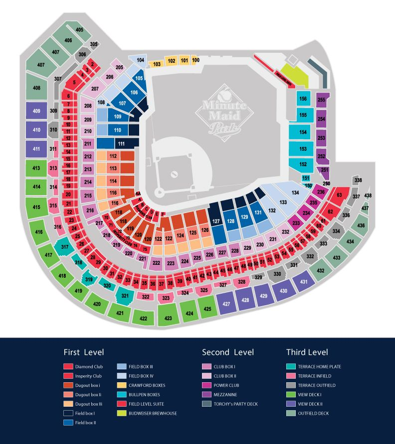 Minute Maid Park Seating Map | MLB.| Baseball Parks Visited