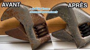 Outils Rouilles L Astuce Efficace Pour Enlever La Rouille Sans Frotter Avec Images Enlever La Rouille Rouille