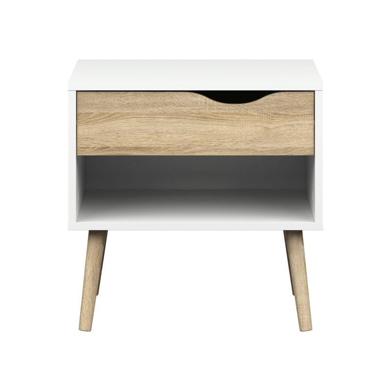 A Masterwork Of Clean Lined Design This One Drawer Nightstand Is