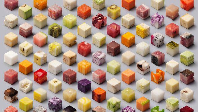 Het web wordt wild van deze fascinerende voedselblokjes | Fotografie | De Morgen