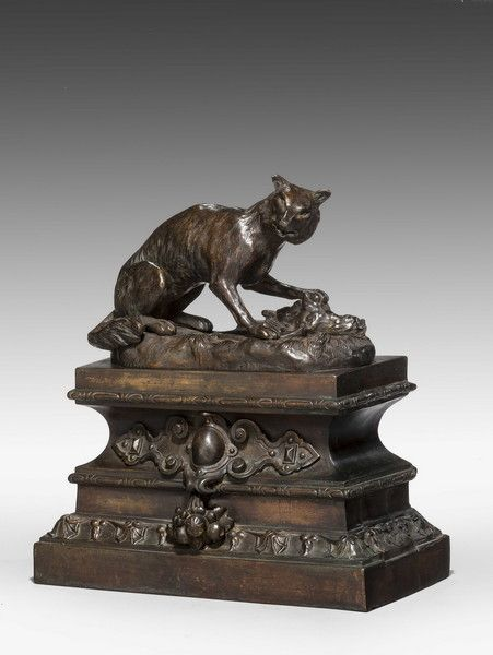 Pair of Bronze Foxes - Windsor House Antiques