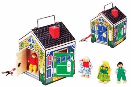 Adorable Doorbell House Includes Four Little Wooden People Four Different Sounding Doorbells And H One Key To Lock And Doorbell House Wooden People Bird House
