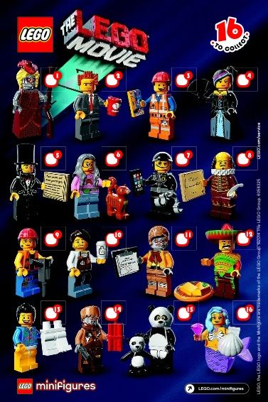 View Lego Instructions For Lego Minifigures The Lego Movie Serie