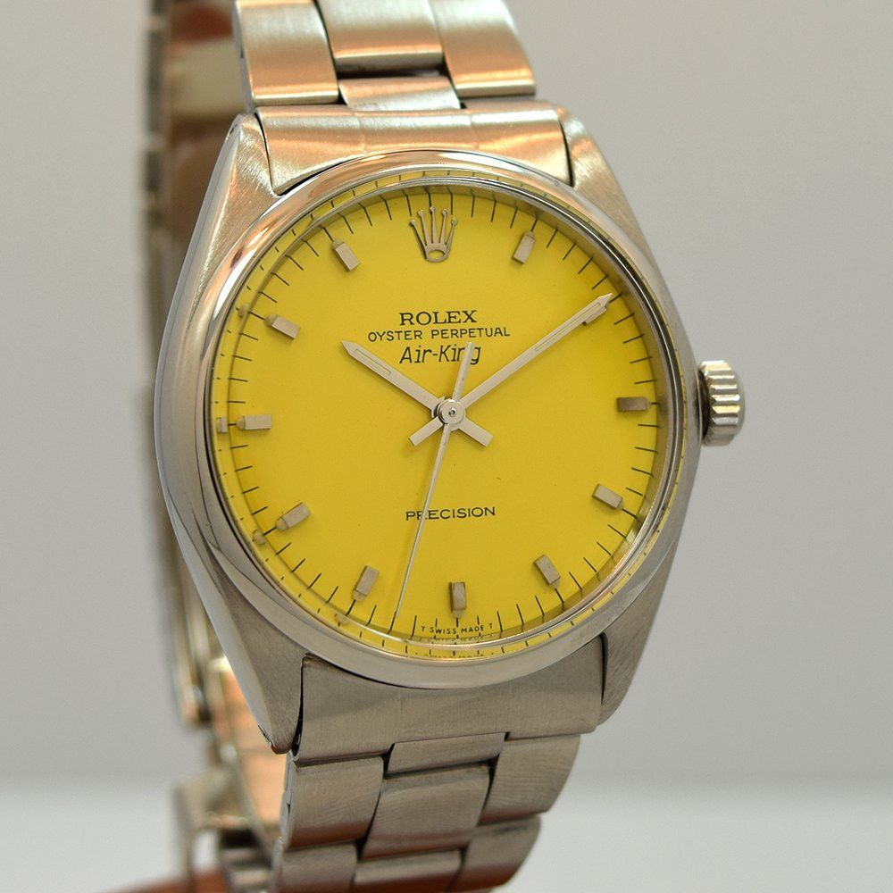 1962 Rolex Airking Stainless Steel Ref. 5500 I like that