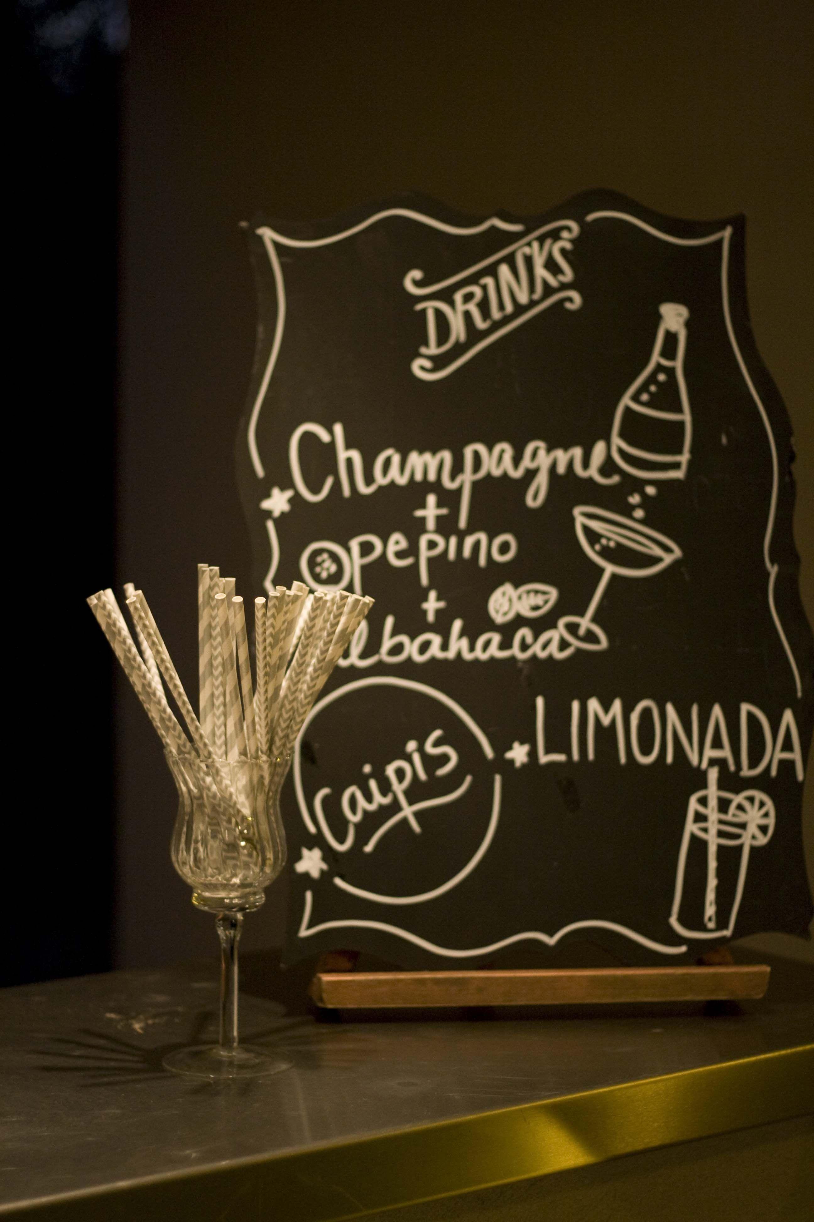 Kit barra pizarra de tragos pajitas nuestro trabajo pinterest weddings - Pizarra para bar ...