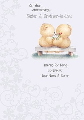 New Baby Sister Forever Friends Card