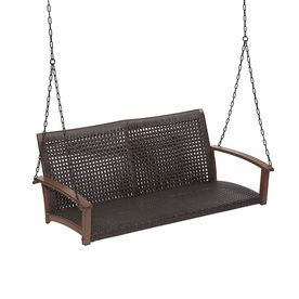 Allen Roth 2 Seat Aluminum Casual Porch Swing Outdoor