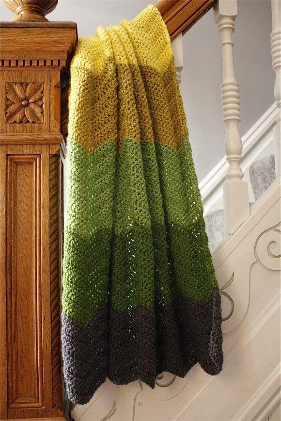 chevron baby blanket crochet pattern - must try!