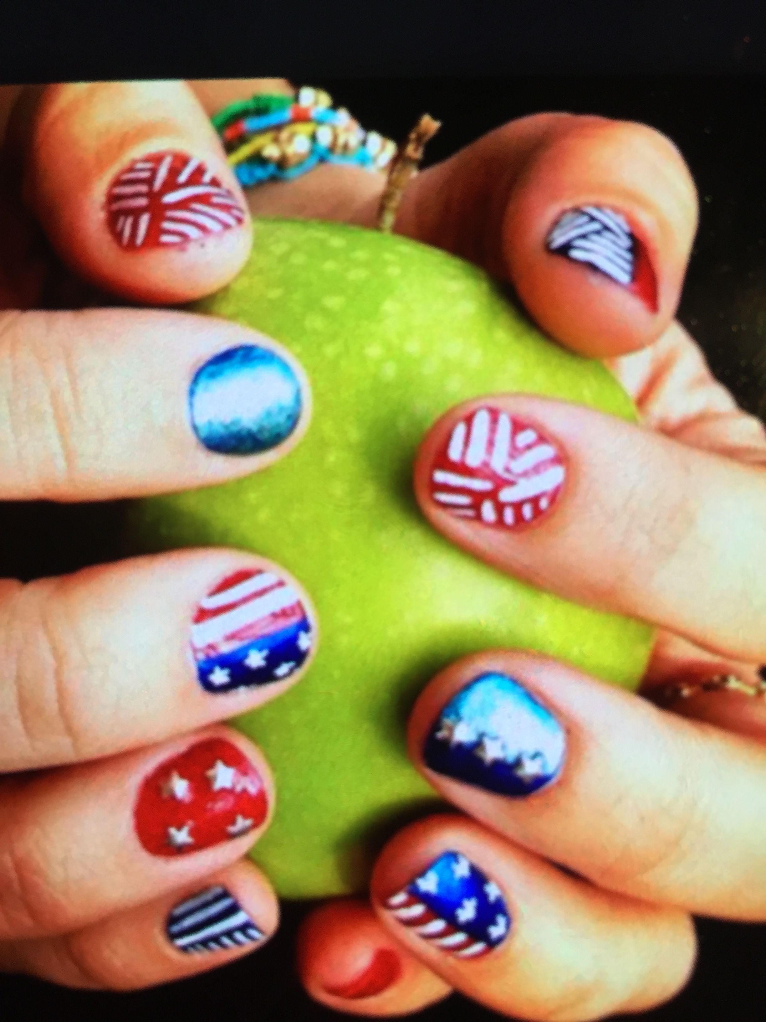 Pin de Jeni Keni en 4th Of July Nail Art | Pinterest