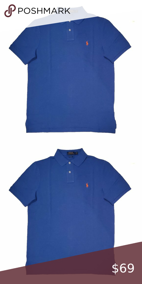 POLO RALPH LAUREN BLUE RED LARGE CLASSIC FIT SOFT TSHIRT MENS NWT NEW