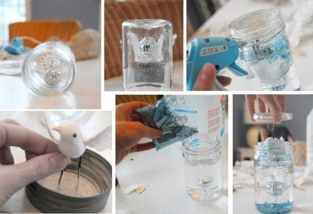 Just Love These Diy Snow Globe Ideas Diy Snow Globe Homemade