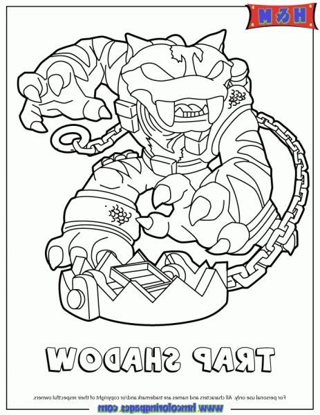 The Best Skylanders Swap Force Coloring Pages Trap Shadow Http
