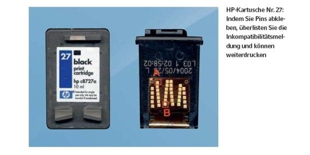 HP-Drucker meldet inkompatible Druckerpatrone - PC-WELT