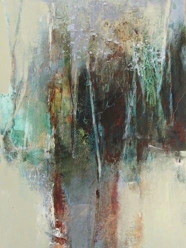 "Mixed Media Artists International: Mixed Media Abstract Art Painting ""Portal"" by Intuitive Artist Joan Fullerton"