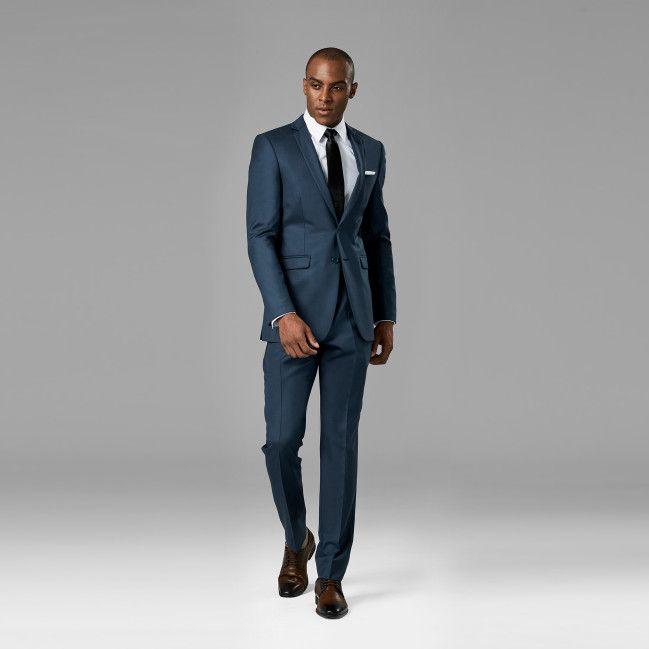 Slate Blue Notch Lapel Suit - Generation Tux | Wedding Fashion ...