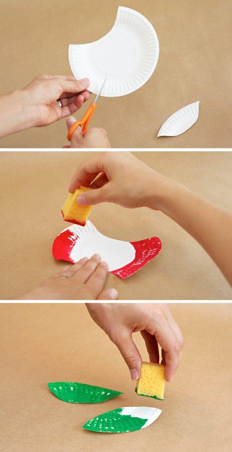 Der apfel wird schnell und einfach gemacht kinder diy for Projekte im kindergarten herbst
