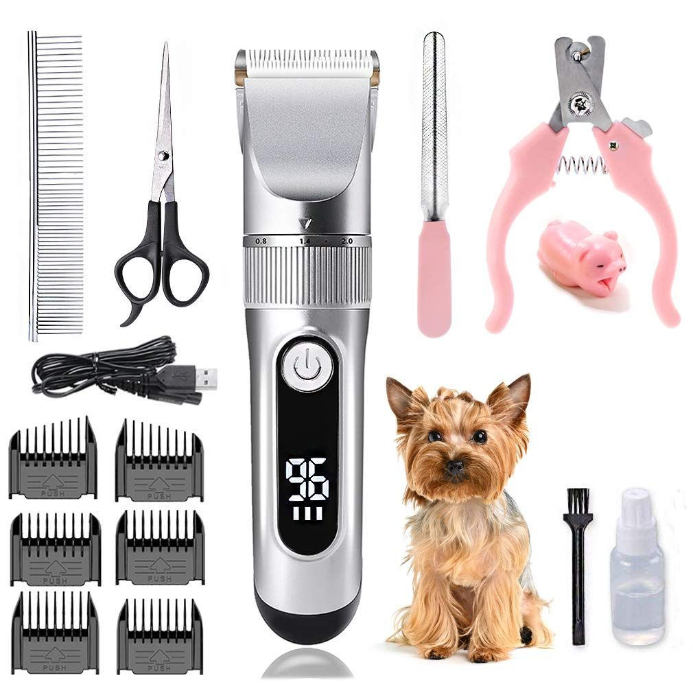 Daling Dog Clippers 2 Speed Cordless Electric Pet Grooming Clippers Kits Professional Dog Shaver Clippers Low Dog Grooming Clippers Pet Grooming Dog Clippers