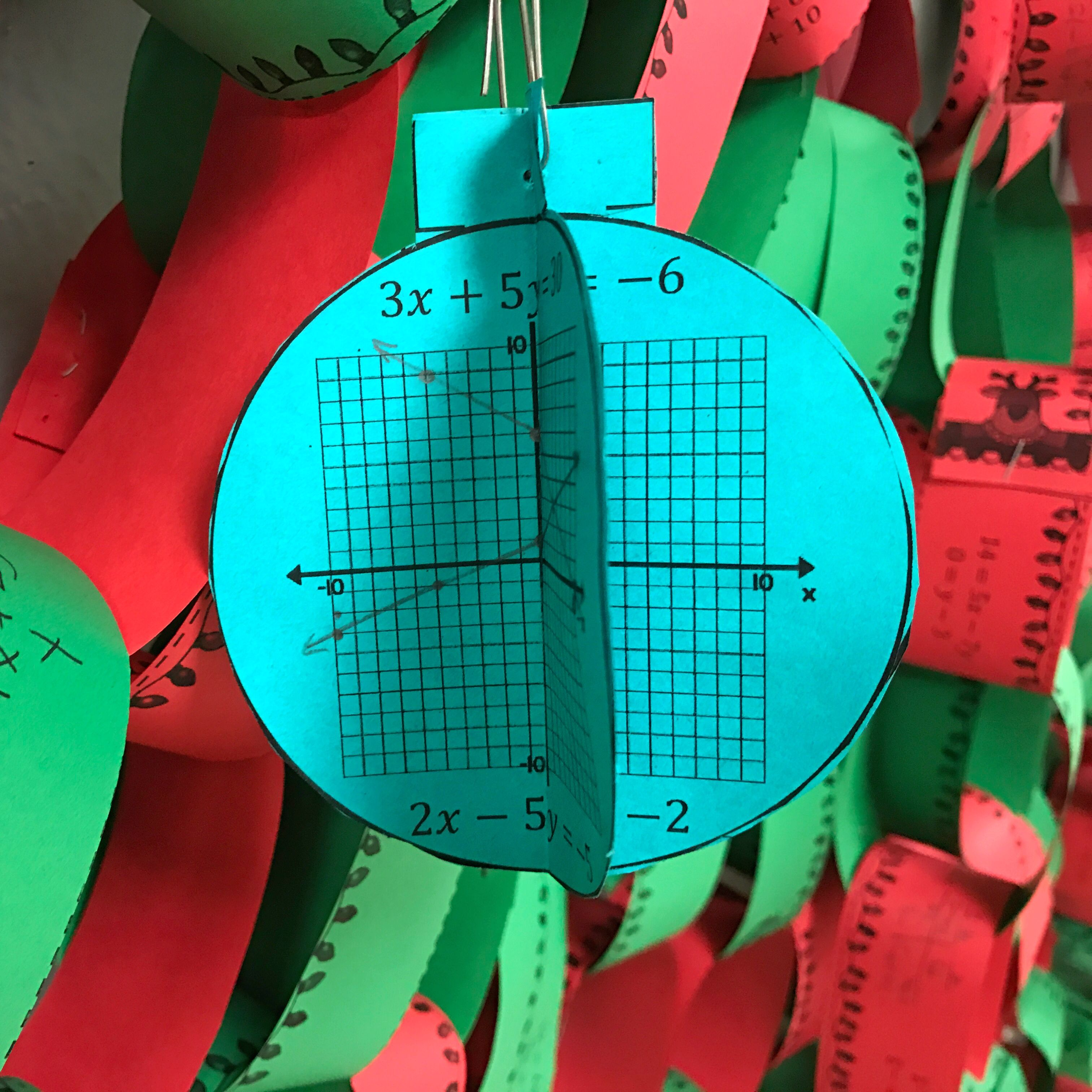 Christmas Algebra Graphing Systems Of Equations 3d