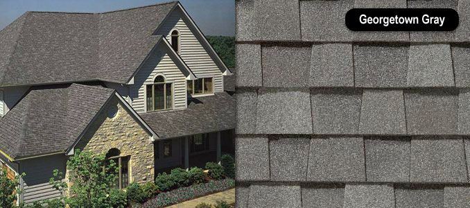 Best Shingle Roof Certainteed Landmark Georgetown Grey House 400 x 300