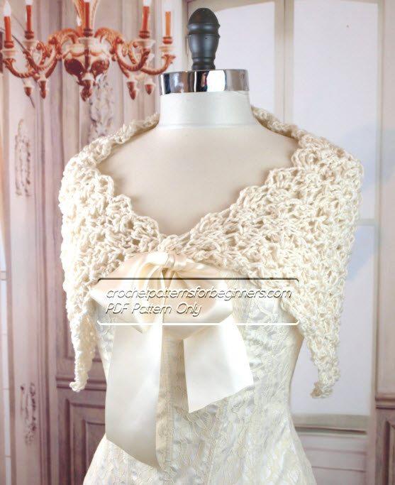 Crochet Wedding Gift Patterns: Spring Crochet Wedding Shawl Pattern Easy Crochet Pattern