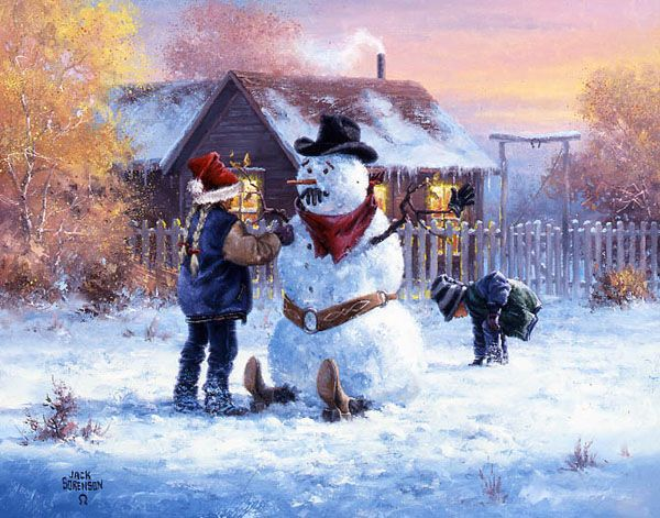 Christmas Themed Art and Paintings by Jack Sorenson