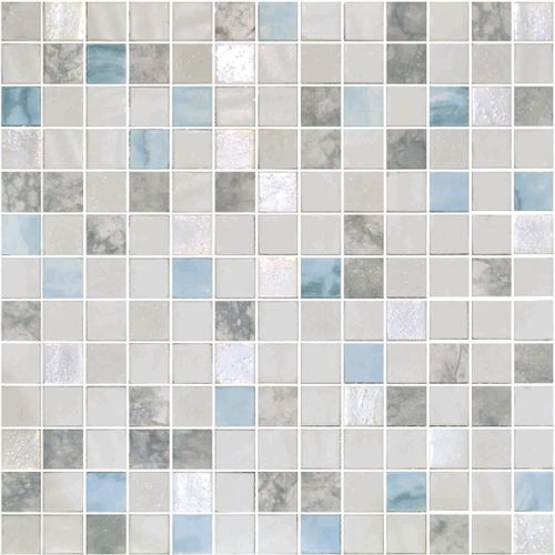Glass Onix Essence Carrara Macauba 1x1 Glass Mosaic Blend In 2020 Mosaic Tile Sheets Mosaic Tiles Glass Mosaic Tile Kitchen