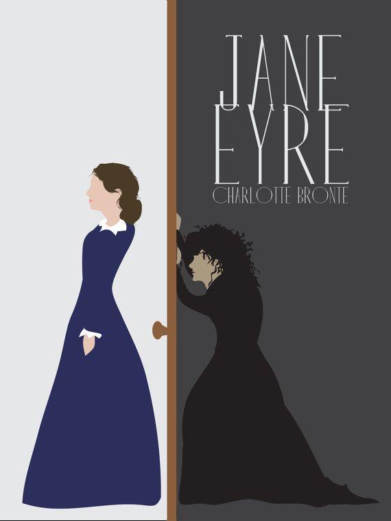 jane eyre literature poster, modern literature print, book poster ...