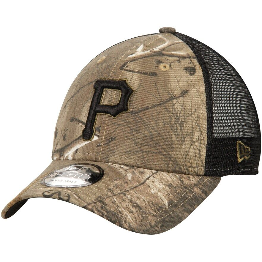new products cheap for discount nice cheap Men's New Era Camo/Black Pittsburgh Pirates Realtree Trucker ...
